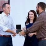 Rob Protzman receiving Partner of the year award 2018